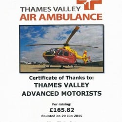 Air Ambulance Receipt for St. Crispin's Coffee Bar