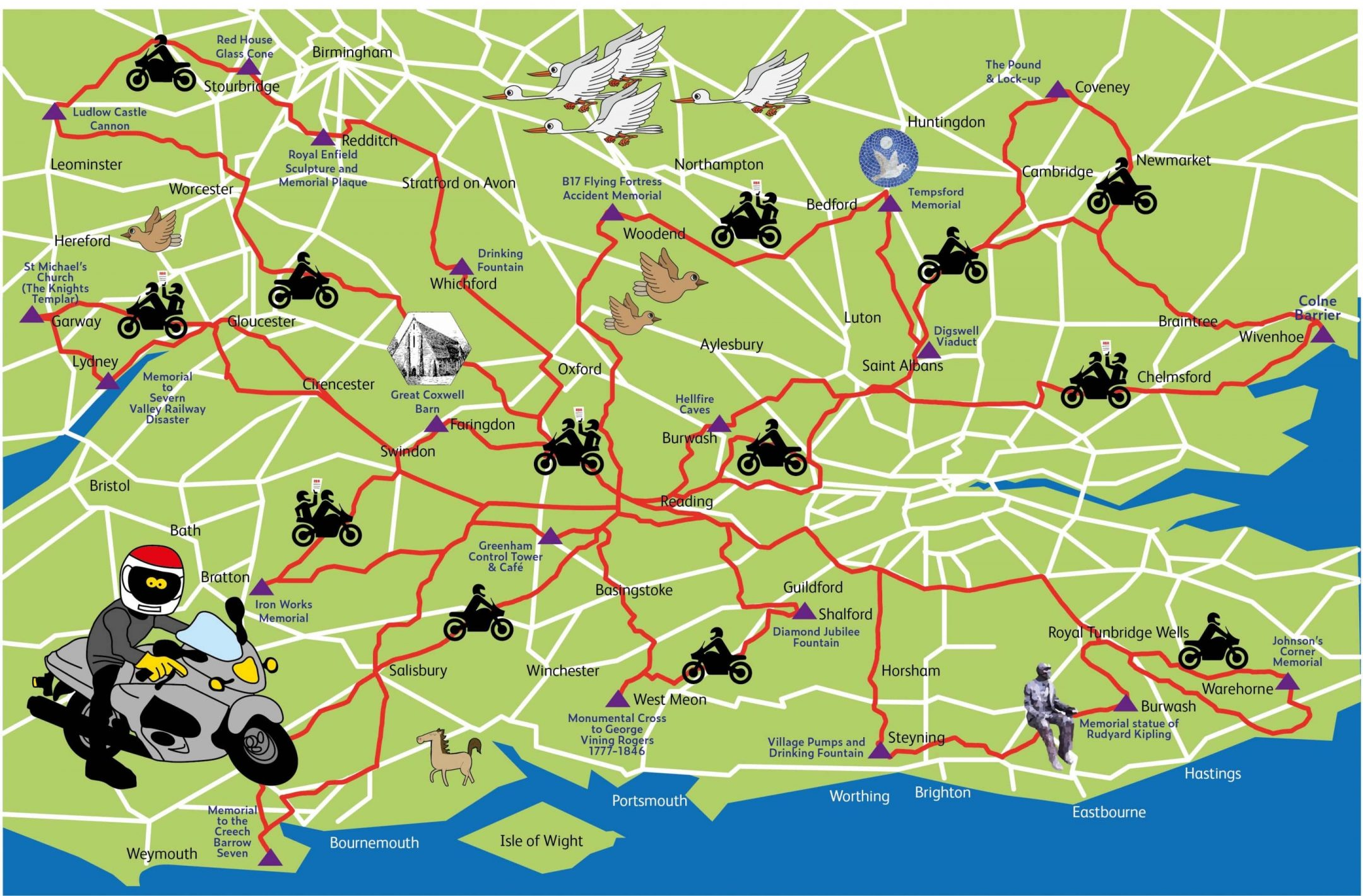 round britain rally map