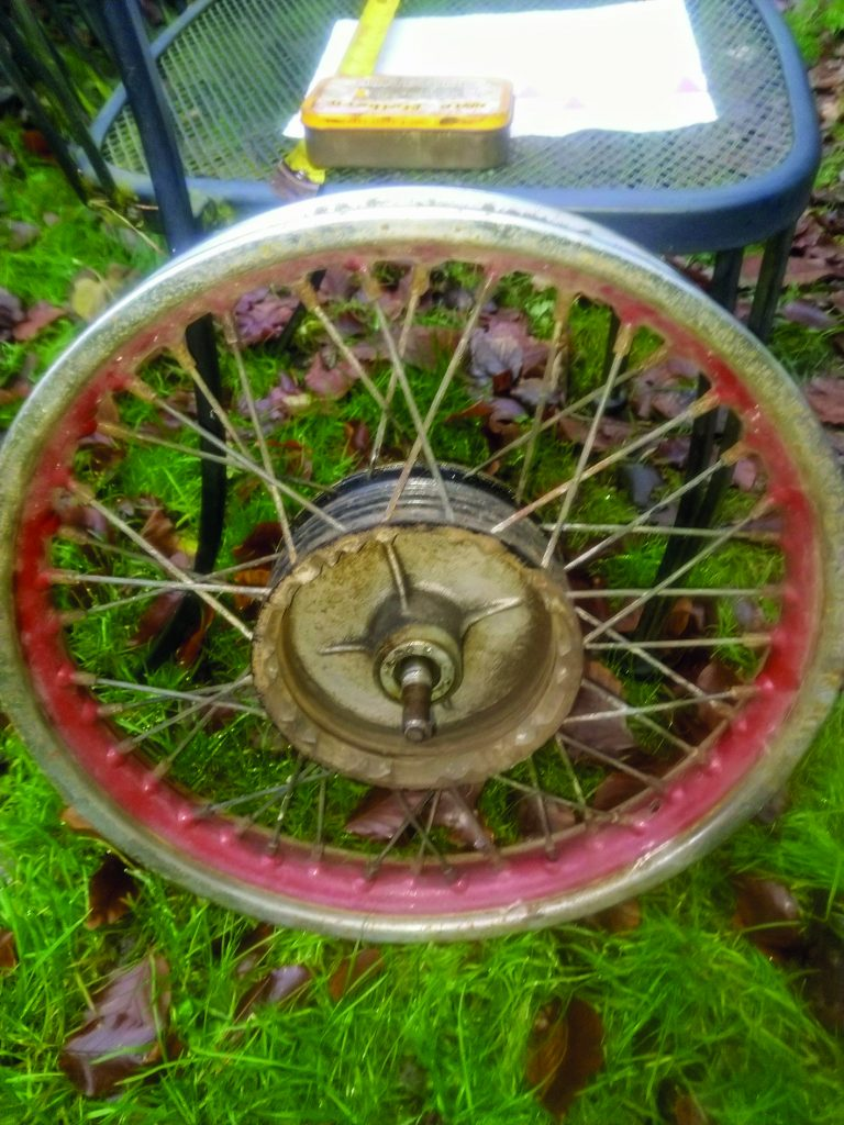 BSA C15 Front Wheel