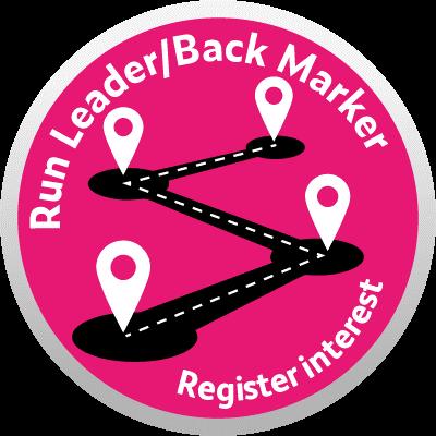 run leader back marker course logo